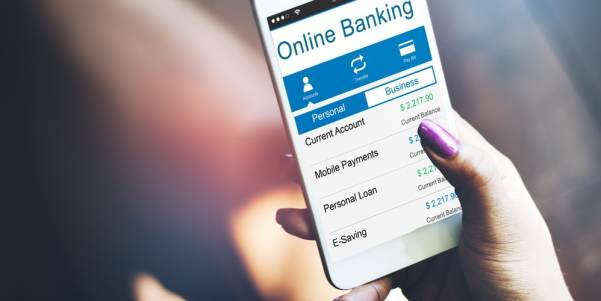 Online banking on a smartphone