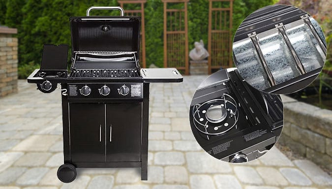 Save 68% on a 4-burner Gas Barbecue
