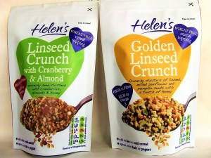 2 Helen's Linseed Crunch pouches side by side - make your own museli