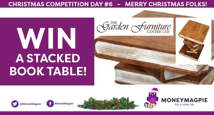 Day 6 – Win a Stacked Book Table Worth £80