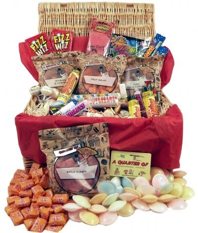 retro sweets christmas hamper