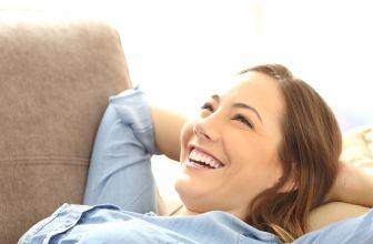 Happy woman relaxing