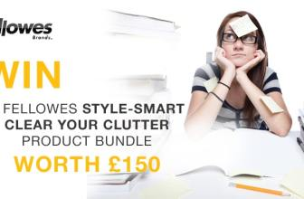 Day 7 - Win a Fellowes Style-Smart Clear Your Clutter product bundle worth £150