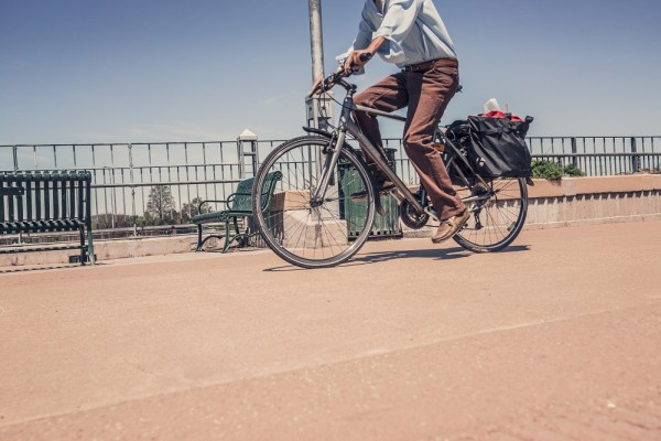 Make money advertising on your bike - Image of male cyclist