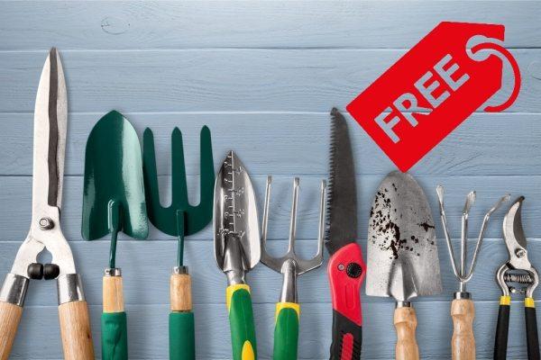 Free gardening equipment