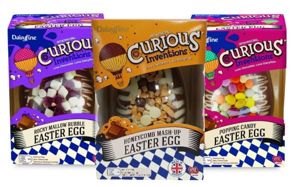 Aldi - Dairyfine Curious Inventions Easter Eggs