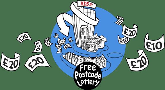 Free Postcode Lottery Graphic