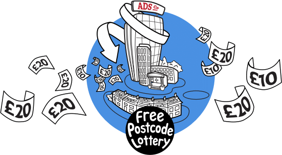 Free Postcode Lottery Graphic