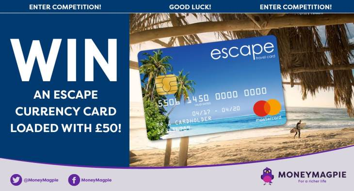 Win an Escape currency card loaded with £50