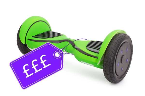 Hoverboard with price tag