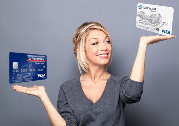 Woman weighing up her banking options