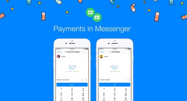 Facebook Messenger P2P Payments Banner
