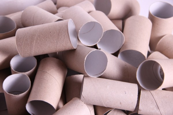 Pile of toilet roll tubes