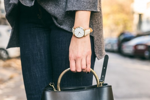 Woman wearing wrist watch