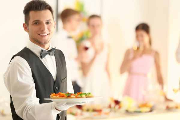 Young male waiter