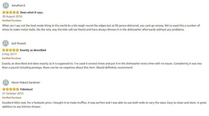 Melon Baller Amazon Reviews