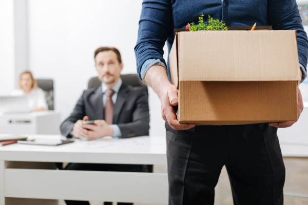 Man leaving job