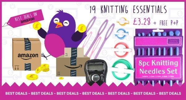 19 Knitting Essentials for less than £3.28