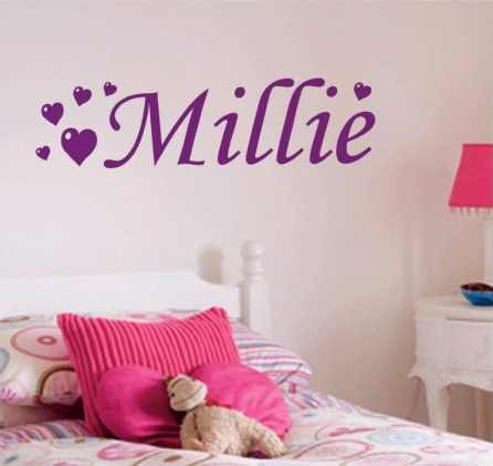 Custom name wall sticker