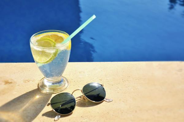 Gin by the pool