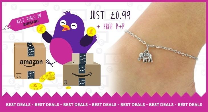 Amazon Deal of the Week: Elephant Anklet Just 99p