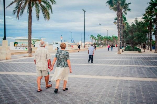Senior couple living abroad