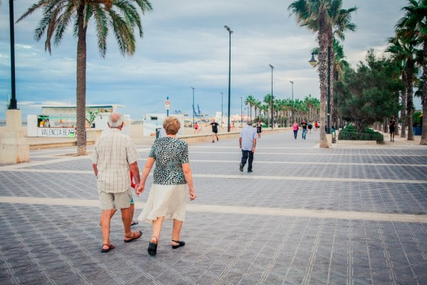 Senior couple living abroad