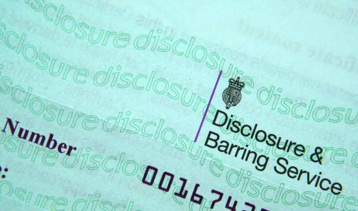 What is included on a DBS check