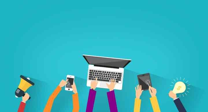 Cartoon of online business