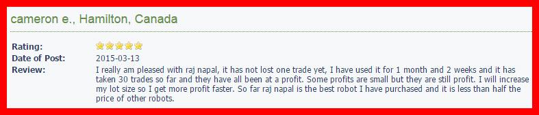 Taj Napal Forex Robot review