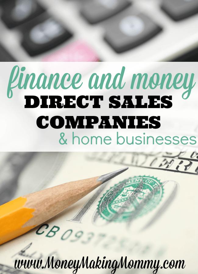 Direct Sales Companies Focused on Finances