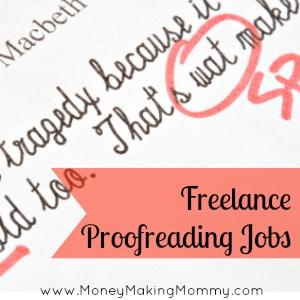 freelance proofreading jobs