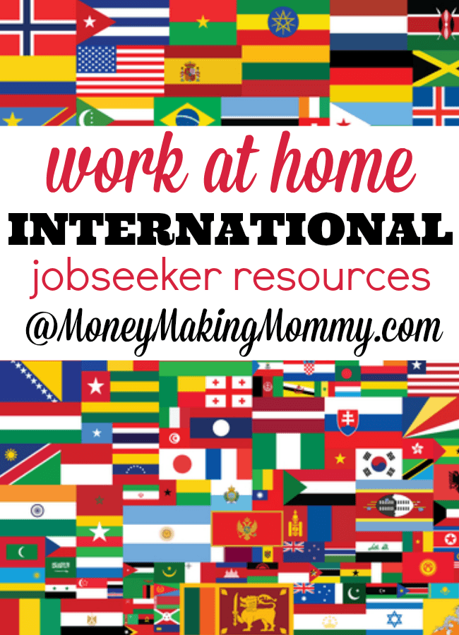 International Work at Home Resources