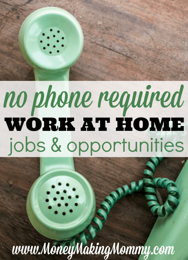 No Phone Required Work at Home Jobs