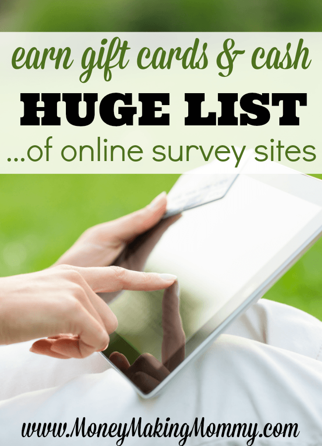 Taking Online Surveys for Money and Gift Cards