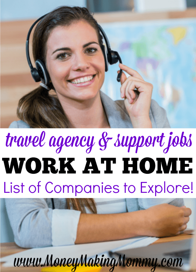 Travel Agent or Agency Work at Home Jobs