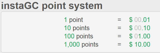 instaGC-points