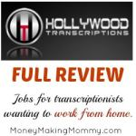 Hollywood Transcriptions – Work at Home for Transcribers