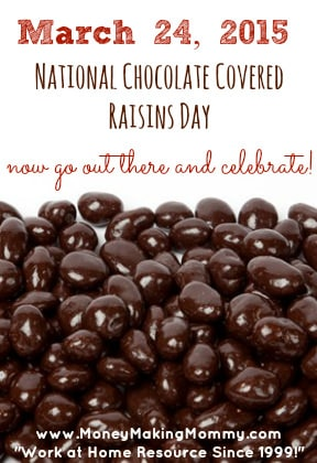 National Chocolate Cover Raisins Day