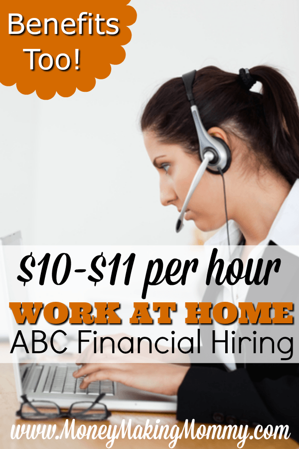 ABC Financial Work at Home Jobs