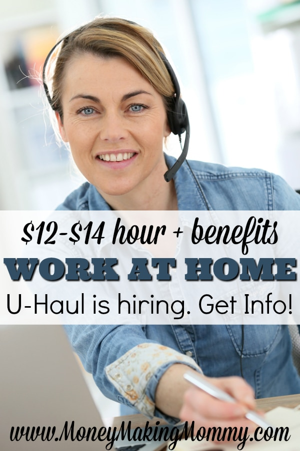 UHaul Jobs - Work at Home