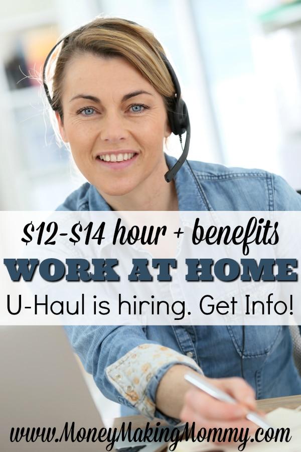 UHaul Jobs - Work at Home