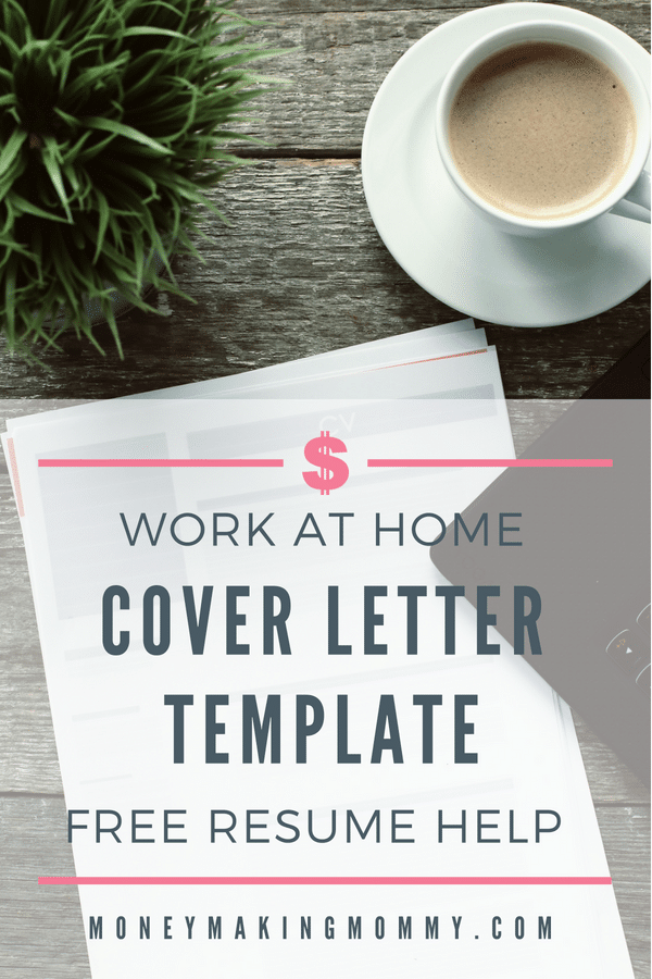 Is the time right to approach your boss about working from home? Here's a helpful work from home resume cover letter template to get your proposal started. - MoneyMakingMommy.com - https://www.moneymakingmommy.com/free-resume-cover-letter/ #resume #coverletter #jobinterview