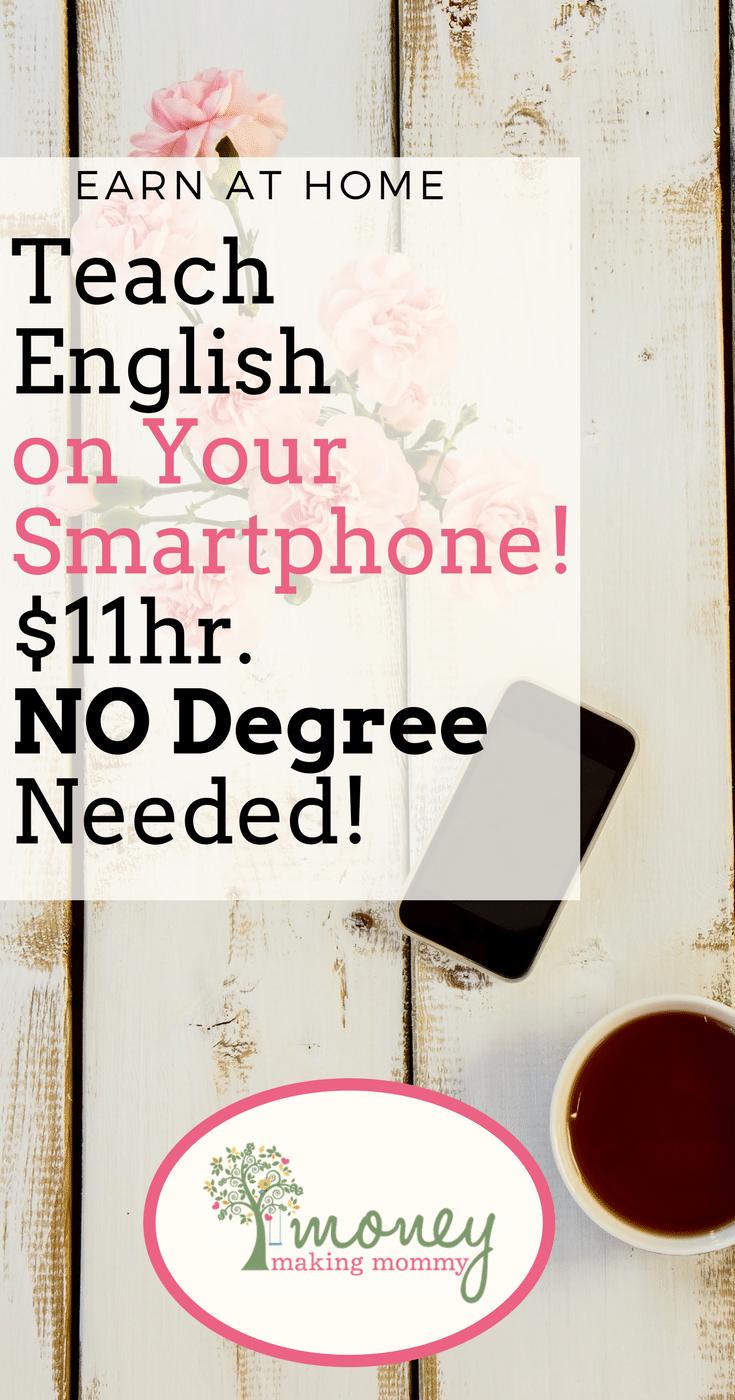 Teach English $11hr. No Degree!