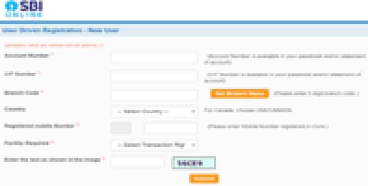 sbi netbanking registration online