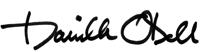 Danielle O'Dell's signature