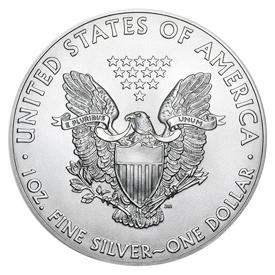 1 Oz Silver Eagles (Reverse)