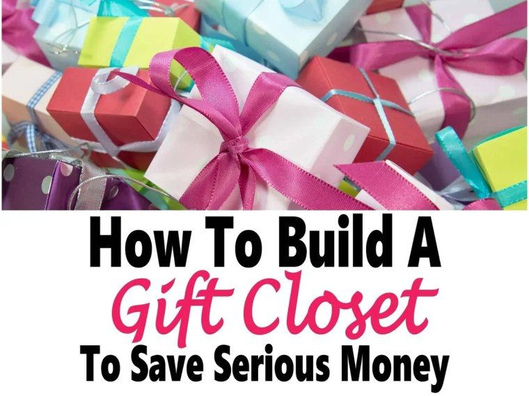 How to Build a Gift Closet To Save Serious Money ~ Building a gift closet is a great way to save money on gift giving as well as being able to afford doing so when money is tight. Read on to learn how to build your own gift closet to save some serious money. gift giving   gifts   money   saving money #money #savemoney #gifts #finance