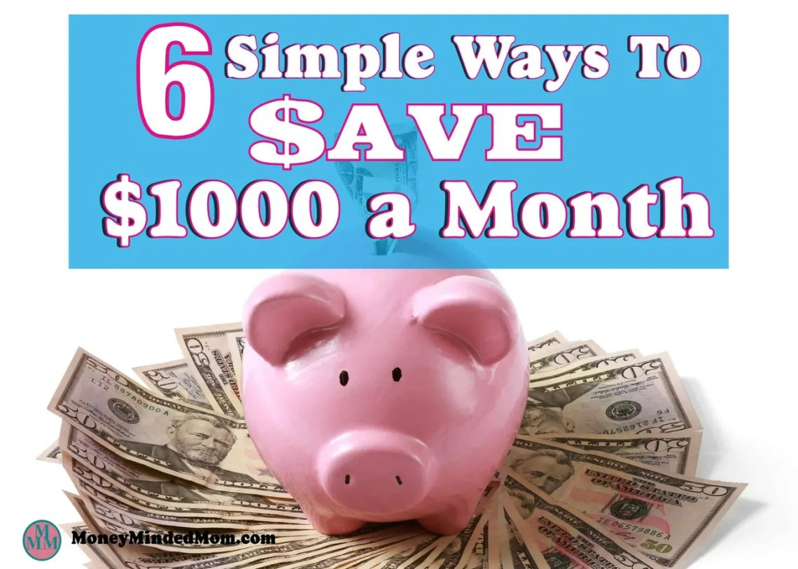 Saving an extra $1000 a month might seem like an impossible task, but it really isn't. Small changes go a long way to saving money, balancing your budget and managing money. Read on to learn how small changes can really add up to a huge amount of saving money. Saving Money   Money Saving Tips   Finance   Get Out Of Debt   Budgeting   saving money   saving money ideas   saving money tips   money saving tips   money saving ideas   frugal living   saving money fast   budget   thrifty living #savingmoney