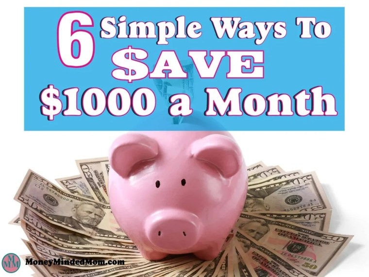 Saving an extra $1000 a month might seem like an impossible task, but it really isn't. Small changes go a long way to saving money, balancing your budget and managing money. Read on to learn how small changes can really add up to a huge amount of saving money. Saving Money | Money Saving Tips | Finance | Get Out Of Debt | Budgeting | saving money | saving money ideas | saving money tips | money saving tips | money saving ideas | frugal living | saving money fast | budget | thrifty living #savingmoney